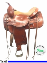 "15"" Used Tex Tan Seminole Wide Trail Saddle ustt3920 *Free Shipping*"