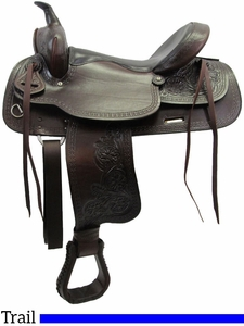 """** SALE ** 15"""" to 17"""" Big Horn Texas Best Del Rio Rider Trail Saddle 950"""