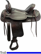 "** SALE ** 15"" to 17"" American Saddlery Texas Best Del Rio Rider Trail Saddle 950"