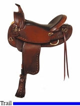 "** SALE ** 16"" 17"" American Saddlery Texas Best Hill Country Trail III Saddle 938FQH"