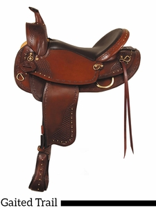 """16"""" 17"""" American Saddlery Texas Best Hill Country Trail III Saddle, Gaited 938G"""