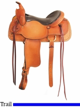 "** SALE ** 16"" 17"" American Saddlery Texas Best The San Saba Trail Saddle 951"