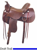 "** SALE ** 16"" 17"" American Saddlery The Draft Master Saddle 1550"