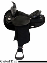 "** SALE ** 16"" 17"" Fabtron Black Gaited Horse Saddle 7141 7143"