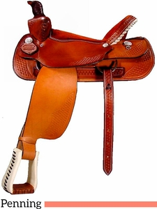 "** SALE ** 15"" to 17"" Dakota Penning Roper Saddle 420"