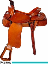 "** SALE ** 15"" to 17"" Dakota FQHB Roper Saddle 501"
