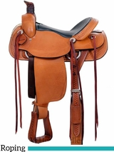 "** SALE ** 15"" to  17"" Dakota Roper Saddle 201M"