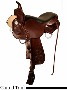 """16"""" 17"""" High Horse by Circle Y Round Rock Gaited Trail Saddle 6870"""