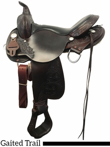 "16"" 17"" High Horse by Circle Y Round Rock Gaited Trail Saddle 6870 w/$80 Gift Card"