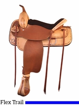 "17"" Tex Tan Lone Star Flex Trail Saddle 292TF517NADH"