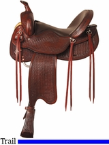 "16"" 17"" Big Horn Trail Saddle 1697"