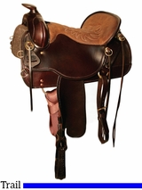 "15.5"" to 18.5"" Tucker Cheyenne Frontier Trail Saddle 167 w/Free Pad"