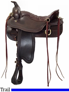 "** SALE ** 15.5"" to 18.5"" Tucker Cheyenne Frontier Trail Saddle 167"