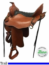 """SOLD 2017/06/26  16.5"""" Used Tucker Black Mountain Extra Wide Gaited Trail Saddle 261 ustk3820 *Free Shipping*"""