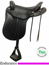 """16.5"""" Used Schleese Wide Endurance Trail Saddle ussc3925 *Free Shipping*"""