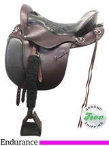 "16.5"" Used Tucker Equitation Extra Wide Endurance Saddle 149 ustk3904 *Free Shipping*"