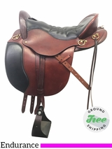 "16.5"" Used Tucker Equitation Wide Endurance Saddle 149 ustk3878 *Free Shipping*"