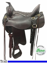 "16.5"" Used Tucker High Plains Medium Trail Saddle 260 ustk3795 *Free Shipping*"