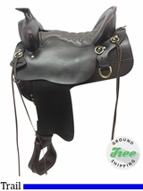 "16.5"" Used Tucker High Plains Medium Trail Saddle 260 ustk3796 *Free Shipping*"