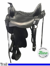 "16.5"" Used Tucker High Plains Special Medium Trail Saddle 260 ustk3884 *Free Shipping*"