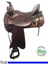 "16.5"" Used Tucker High Plains Wide Trail Saddle 260 ustk3910 *Free Shipping*"