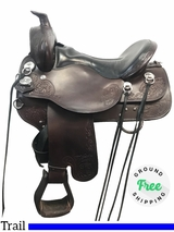 "16.5"" Used Tucker Horizon North Star Wide Trail Saddle 263 ustk3957 *Free Shipping*"