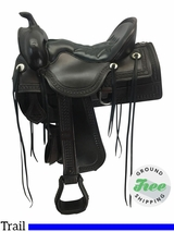 "16.5"" Used Tucker Old West Medium Trail Saddle 277 ustk3678 *Free Shipping*"