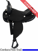 "SOLD 2017/07/10  16"" Abetta Original Nylon Flex Trail Saddle 20501FBK CLEARANCE"