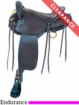 "16"" American Saddlery Black Endurance Saddle 806 CLEARANCE"