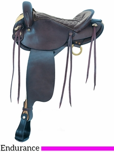 "16"" American Saddlery Black Endurance Saddle 806"