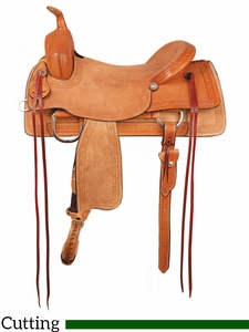 "16"" American Saddlery Comanche Ranch Cutter Saddle 1187"