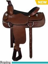 "16"" American Saddlery Lexie Collection Barbwire Roper Saddle 605"