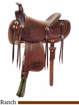 "** SALE ** 16"" American Saddlery MasterCraft Top Hand Rancher Saddle 128"