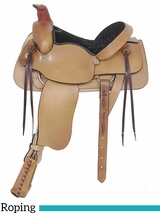 "16"" American Saddlery Plain All Around Roping Saddle 756"