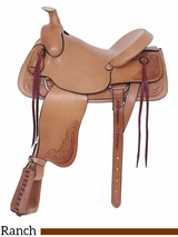 "** SALE ** 16"" American Saddlery Rancher's All Around Saddle 748"
