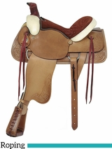 "16"" American Saddlery Rawhide All Around Roping Saddle 755"