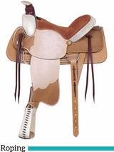 "16"" American Saddlery Rodeo All Around Roping Saddle 759"