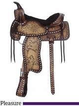 "16"" American Saddlery The High Point Glo Tan Antique Pleasure Saddle 1534"