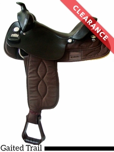 "16"" Big Horn Brown Cordura Gaited Horse Saddle High Withers 257 CLEARANCE"