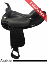 """SOLD 2017/08/17  15.5"""" Big Horn Synthetic Arabian Saddle 116 CLEARANCE"""