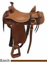 "16"" Big Horn Wide Ranch Saddle 1609"