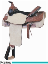 "** SALE ** 16"" Billy Cook Justin Roper Roughout Saddle 291638R"