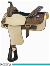 "** SALE ** 16"" Billy Cook Justin Roper Smoothout Saddle 291638"