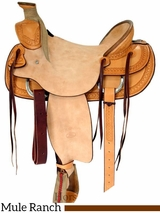 "15.5"" 16"" Billy Cook Ranch Mule Saddle 2280"