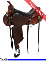 """15"""" Cashel Roughout Wide Trail Saddle CT-R CLEARANCE"""