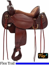 "** SALE ** 15"" to 17"" Circle Y Carlsbad Flex-Lite Trail Saddle 2376"