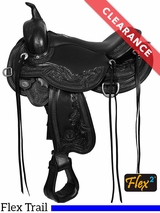 """SOLD 2017/06/21  15"""" Circle Y Julie Goodnight Wind River Flex2 Trail Saddle 1750 CLEARANCE"""