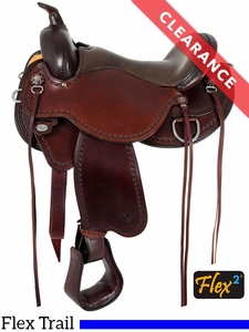 "SOLD 2017/07/19  16"" Circle Y Nova Flex2 Medium Trail Saddle 1566"