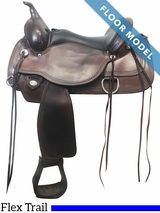 "PRICE REDUCED! 16"" Circle Y Topeka Wide Flex2 Trail Saddle 1651, Floor Model"