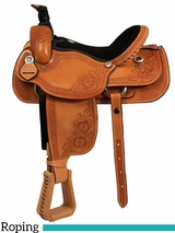 "** SALE ** 15"" to 17"" Dakota Ranch and Calf Roping Saddle 206"